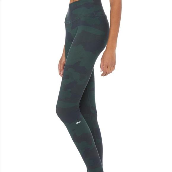 80adf82c5839d ALO Yoga Pants | Alo High Waisted Camo Vapor Leggings | Poshmark